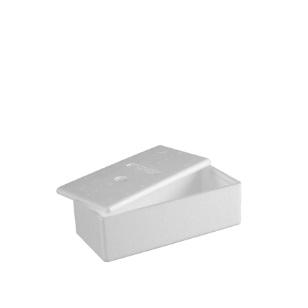 Ice Cream Box & Lid Styro 265x130x80mm