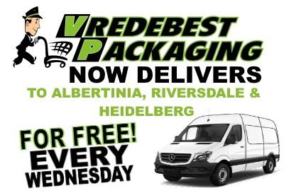 Delivery to Albertiinia, Riversdale & Heidelberg