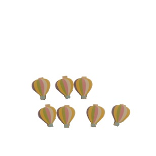 Pegs Air Balloon 4.5cm 6pc