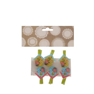 Pegs Birdhouse Assorted 4.5cm 6pc