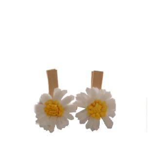 Pegs Daisy Flower Mini 3.5cm 6pc [500B]