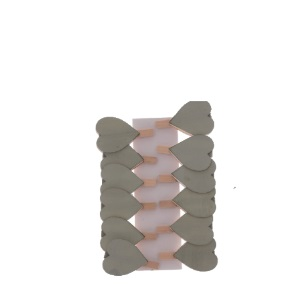 Pegs Grey Heart Solid 4.5cm 12pc [720B]