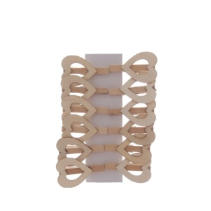Pegs Natural Heart Open 4.5cm 12pc