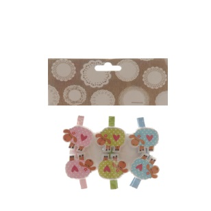 Pegs Sheep Mix 4.5cm 6pc