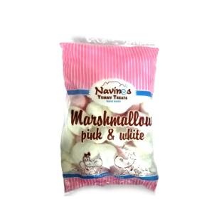 Pink & White Mallow Puffs 50pc