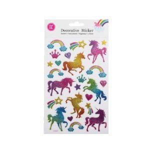 Glitter Stickers - Unicorns 24pc