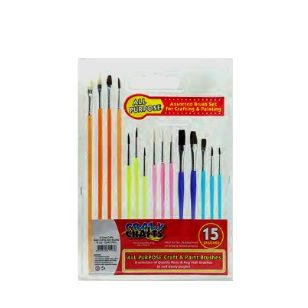 Paint Brushes All Purpose Craft 15pc