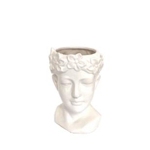 Woman Head Decor Ceramic 220x130mm